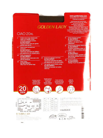 COLLANT EXTRA LARGE DONNA GOLDEN LADY CIAO 20 XL - SITE_NAME_SEO