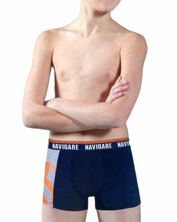 Boxer ragazzo in cotone elasticizzato Navigare 1005ZJ - SITE_NAME_SEO