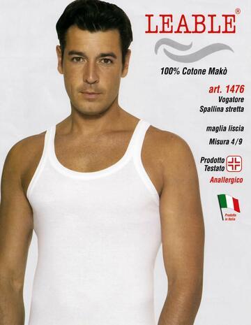Canottiera uomo in cotone spalla stretta Leable 1476 - SITE_NAME_SEO