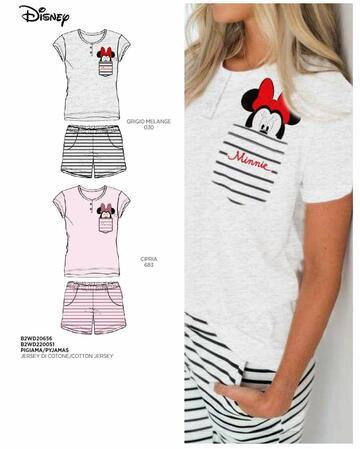 Pigiama donna in cotone a manica corta Disney B2WD20656 - SITE_NAME_SEO