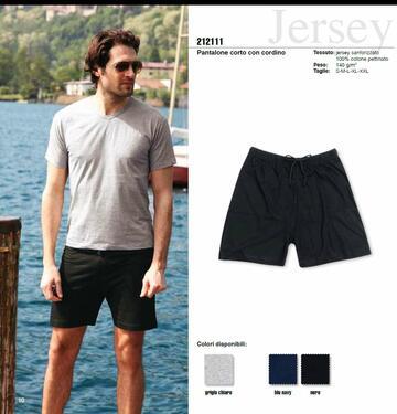 Pantalone corto uomo in jersey di cotone Effepi 212111 - SITE_NAME_SEO