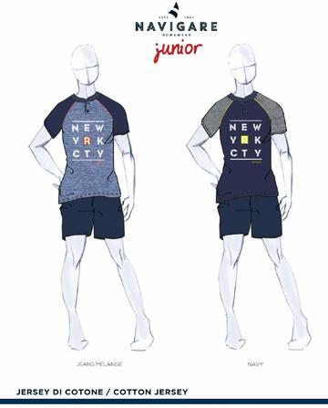 Pigiama ragazzo corto in cotone Navigare Junior 215618 - SITE_NAME_SEO