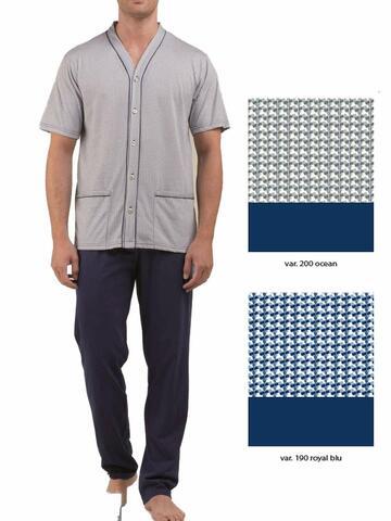 Pigiama uomo in cotone con giacca aperta Bip Bip 2161 - SITE_NAME_SEO
