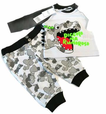Tuta jogging neonato cotone garzato Mignolo 22241 - SITE_NAME_SEO
