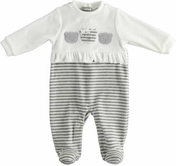 Tutina intera da neonata in ciniglia Mignolo 23148 - SITE_NAME_SEO