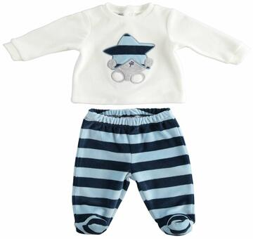 Completo clinico 2 pezzi neonato in ciniglia Mignolo 23200 - SITE_NAME_SEO