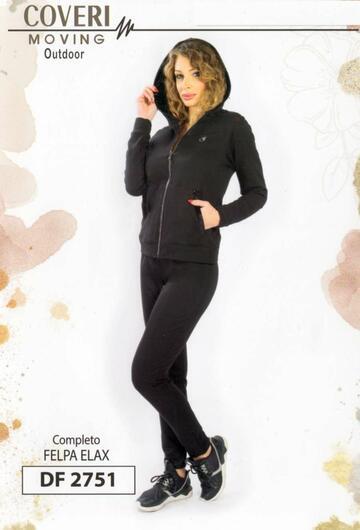 Tuta donna in felpa elasticizzata Coveri Moving DF2751 - SITE_NAME_SEO