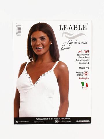 CANOTTA SPALLA STRETTA DONNA LEABLE 1463 TG.4/8 - SITE_NAME_SEO