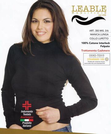 Maglia donna a lupetto in caldo cotone Leable 350 - SITE_NAME_SEO