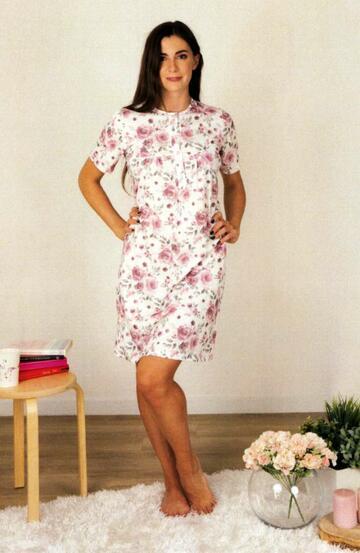 Camicia da notte donna a manica corta in cotone Silvia 41312 - SITE_NAME_SEO