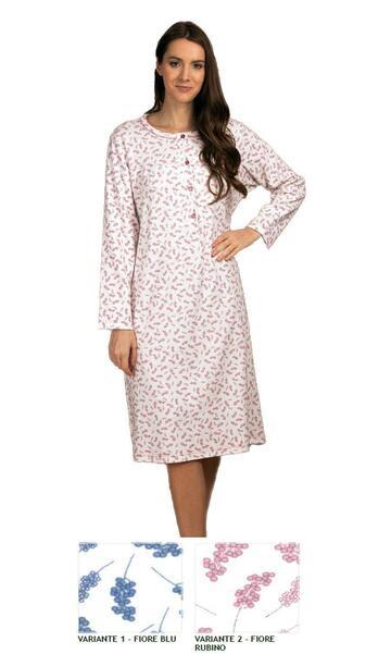 Camicia da notte donna in cotone caldo Silvia 41512 - SITE_NAME_SEO