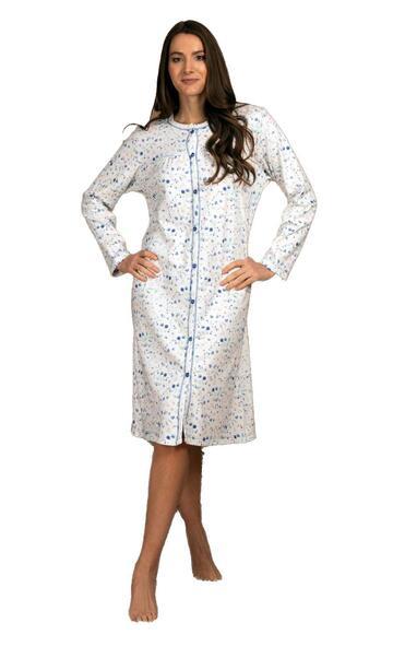 Camicia da notte donna CLINICA in cotone caldo Silvia 41515 - SITE_NAME_SEO