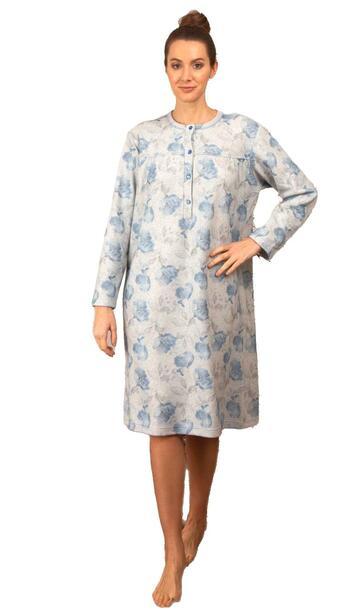Camicia da notte in cotone lanato Silvia 41702 - SITE_NAME_SEO