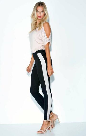 Leggings donna con inserto lurex Jadea 4175 - SITE_NAME_SEO