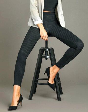 Leggings donna moda con inserto gessato Jadea 4280 - SITE_NAME_SEO