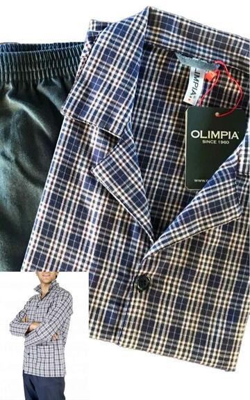 PIGIAMA IN FLANELLA APERTO UOMO OLIMPIA 513 - SITE_NAME_SEO