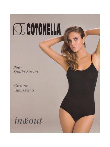 Body donna spalla stretta in cotone bielastico Cotonella GD008 - SITE_NAME_SEO