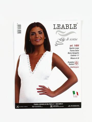 CANOTTA SPALLA LARGA DONNA LEABLE 1464 TG.4/8 - SITE_NAME_SEO