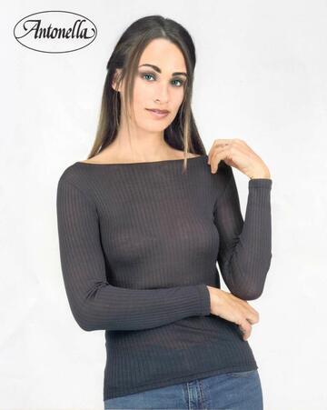 Maglia donna con scollo a barchetta in micro lana Antonella 64156 - SITE_NAME_SEO