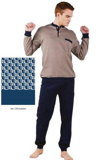 Pigiama uomo con polsini in cotone caldo Bip Bip 6425 - SITE_NAME_SEO