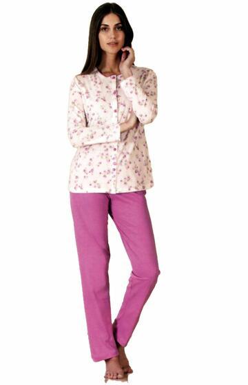Pigiama donna con giacca aperta in cotone Linclalor 73927 - SITE_NAME_SEO
