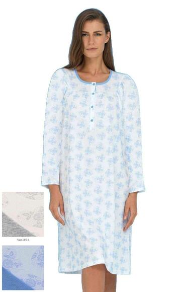 Camicia da notte CALIBRATA in cotone Linclalor 74299 - SITE_NAME_SEO