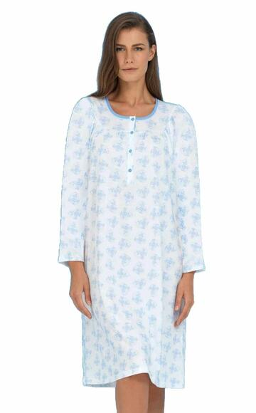 Camicia da notte donna in cotone Linclalor 74037 - SITE_NAME_SEO