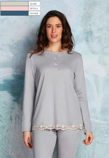 Pigiama donna in caldo cotone-modal Andra Lingerie 8862 - SITE_NAME_SEO