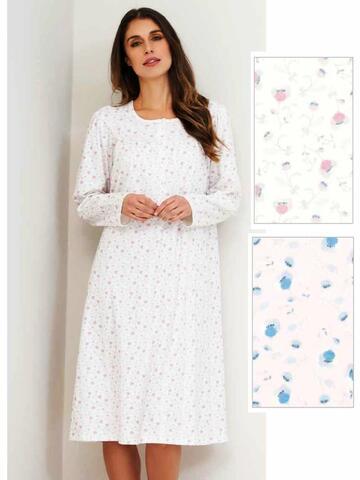 Camicia da notte donna in caldo cotone Linclalor 92622 Tg.44/60 - SITE_NAME_SEO