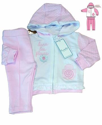 Completo da neonata in cotone garzato Pastello CAF5Y - SITE_NAME_SEO
