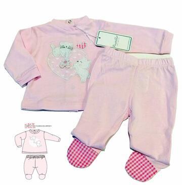 Completo neonato clinica in cotone Pastello CJ1Y - SITE_NAME_SEO