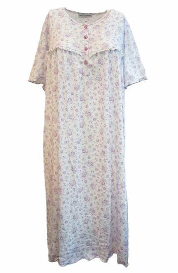 Camicia da notte donna a manica corta in jersey di cotone Fiorenza Amadori Classica MM - SITE_NAME_SEO
