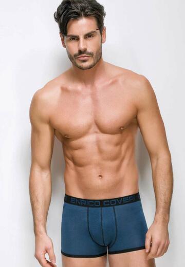 Boxer uomo moda in cotone elasticizzato Enrico Coveri EB1203 - SITE_NAME_SEO