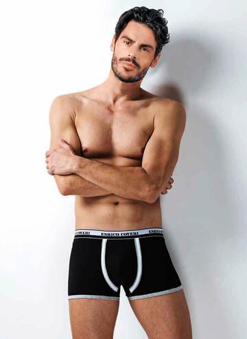 Boxer uomo cotone elasticizzato Enrico Coveri EB1706 - SITE_NAME_SEO