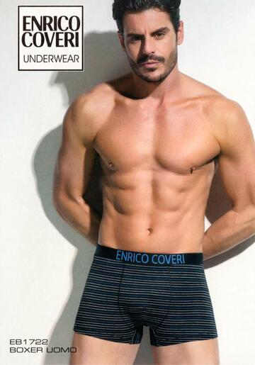 Boxer uomo moda in cotone elasticizzato Enrico Coveri EB1722 - SITE_NAME_SEO