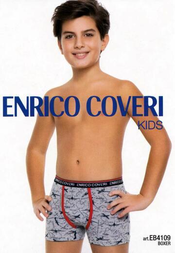 Boxer bambino in cotone elasticizzato Enrico Coveri EB4109 - SITE_NAME_SEO