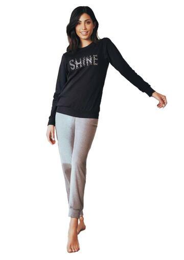 Pigiama homewear donna in cotone caldo Intimami ID797 - SITE_NAME_SEO