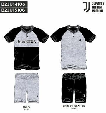 Pigiama uomo homewear a manica corta in cotone Juventus JU14106 - SITE_NAME_SEO