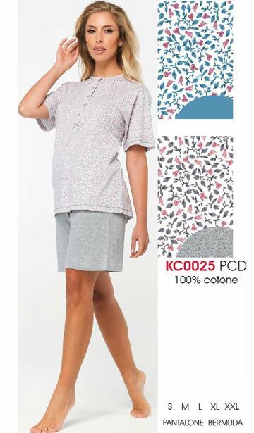 Pigiama donna a manica corta in cotone Karelpiu' KC0025 - SITE_NAME_SEO