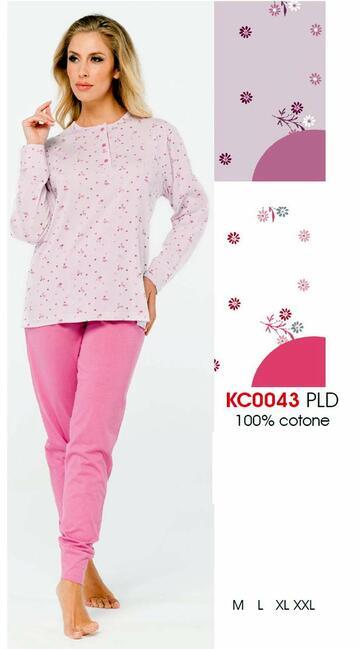 Pigiama donna in cotone fantasia Karelpiu' KC0043 - SITE_NAME_SEO
