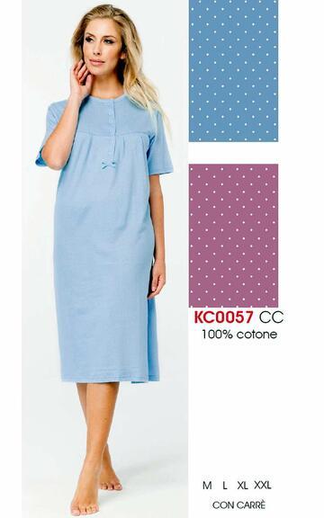 Camicia da notte donna a manica corta Karelpiu' KC0057 - SITE_NAME_SEO