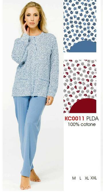 Pigiama donna aperto in cotone Karelpiu' KC0011 - SITE_NAME_SEO