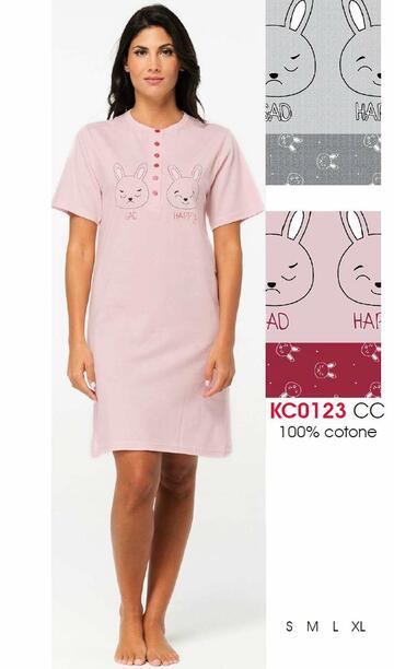 Camicia da notte donna a manica corta Karelpiu' KC0123 - SITE_NAME_SEO