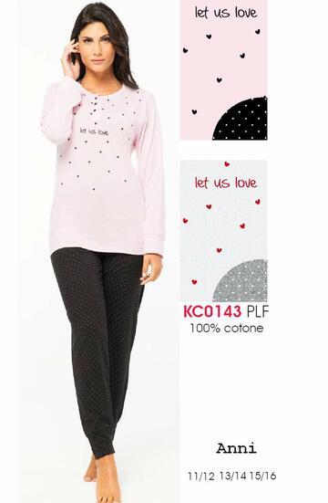 Pigiama da ragazza manica lunga in cotone Karelpiu' KC0143 - SITE_NAME_SEO