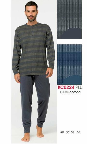 Pigiama uomo in cotone manica lunga Karelpiu' KC0224 - SITE_NAME_SEO