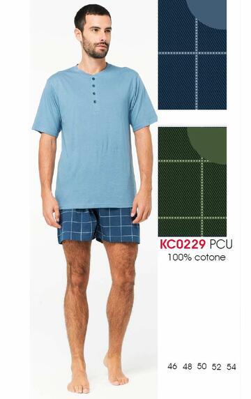 Pigiama uomo corto in cotone Karelpiu' KC0229 - SITE_NAME_SEO
