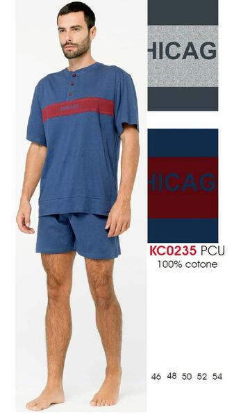 Pigiama uomo manica corta in cotone Karelpiu' KC0235 - SITE_NAME_SEO