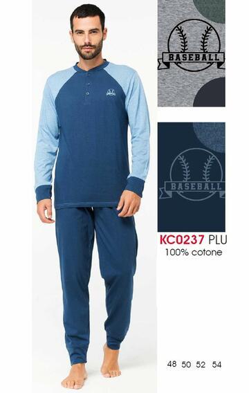 Pigiama uomo manica lunga in cotone Karelpiu' KC0237 - SITE_NAME_SEO