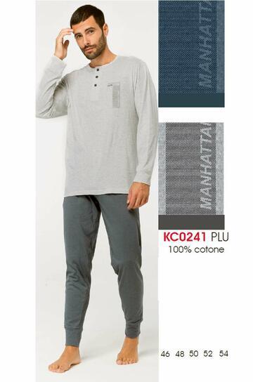 Pigiama uomo manica lunga in cotone Karelpiu' KC0241 - SITE_NAME_SEO
