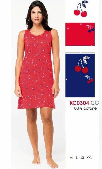 Camicia da notte donna a spalla larga Karelpiu' KC0304 - SITE_NAME_SEO
